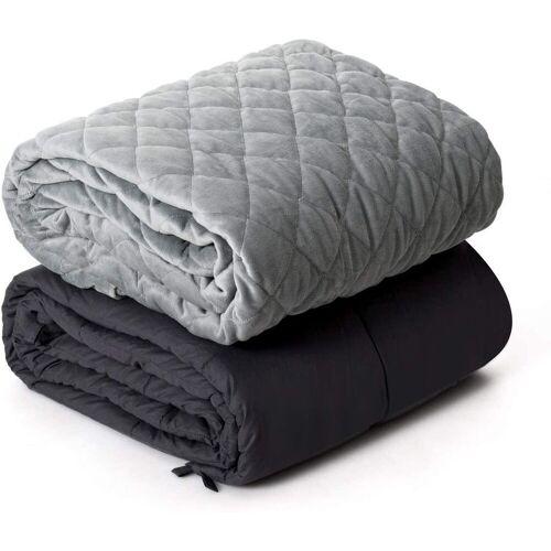 COSTWAY Gewichtsdecke, »Gewichtete Deckemit Bezug, Baumwolle Gewichtete Decke«, , 9kg, grau