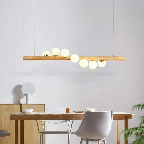 ZMH Pendelleuchte »LED Hängeleuchte aus Holz und Glas esstisch Kugel Pendellampe für Esszimmer«