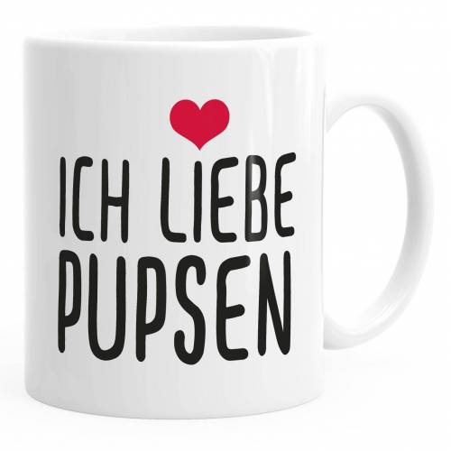 MoonWorks Tasse »Spruch-Tasse Ich liebe Pupsen Kaffeetasse Teetasse ®«