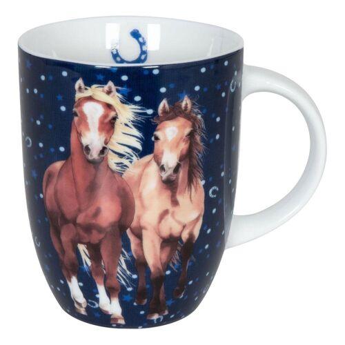 Könitz Becher »Pferdefreunde Horses Darkblue 280 ml«