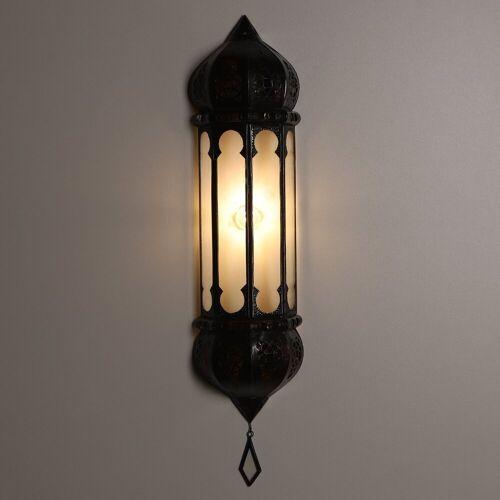 Casa Moro Wandleuchte »Orientalische Wandlampe marokkanische Wandleuchte Ruya Klar 57x12 cm (H/B) aus Eisen & Klar-Glas, Kunsthandwerk aus Marrakesch, Schöne orientalische Dekoration, L5060«