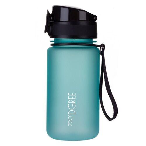 720°DGREE Trinkflasche, Trinkflasche, Wasserflasche, 350ml, Auslaufsicher, Sportflasche, für Schule, Sport, Outdoor, Wandern, Fahrrad, mit Früchtesieb, ocean blue