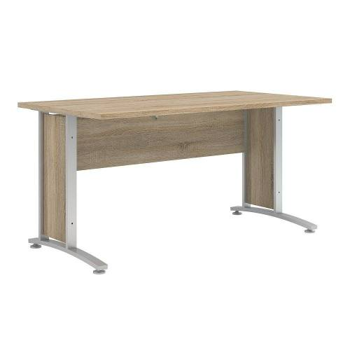 ebuy24 Schreibtisch »Prisme Schreibtisch D Eiche Dekor und silbergrauer«