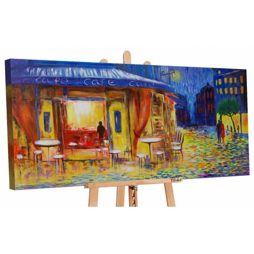 ART YS-Art Gemälde »Abendcafe 162«