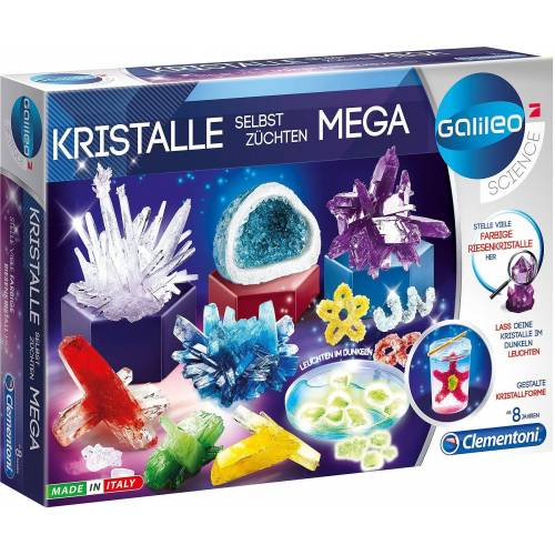 Clementoni® Lernspielzeug »Galileo - Kristalle selbst züchten Mega«