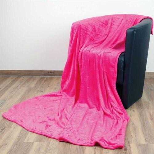 """Bestlivings Wohndecke, , Kuscheldecke """"Celina"""" - Pink - 60x80 cm (BxL) - hochwertige Flauschige Kuschel Decke in vielen Farben und Größen, Pink"""