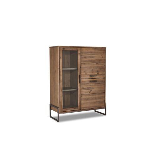 ebuy24 Sideboard »Maro Sideboard 1 Glastür, 2 Türen, braun, Akazienh«