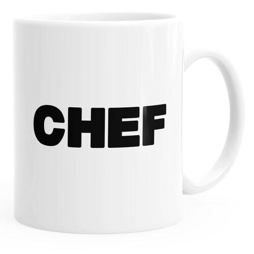 MoonWorks Tasse »Kaffee-Tasse Chef-Tasse einfarbig ®«