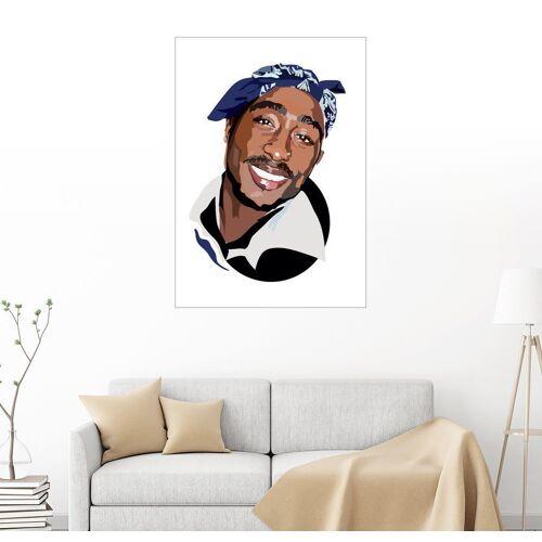 Posterlounge Wandbild, Leinwandbild Tupac