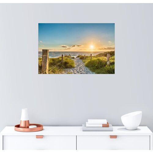 Posterlounge Wandbild, Leinwandbild Weg durch die Dünen der Ostsee