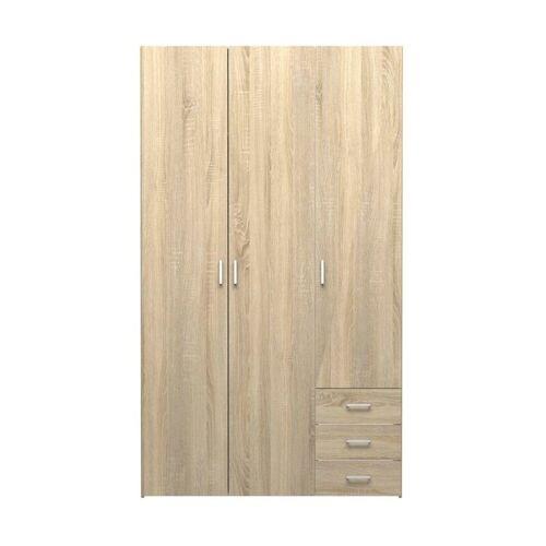 ebuy24 Kleiderschrank »Spell Kleiderschrank 3 Türen und 3 Schubladen. Eic«