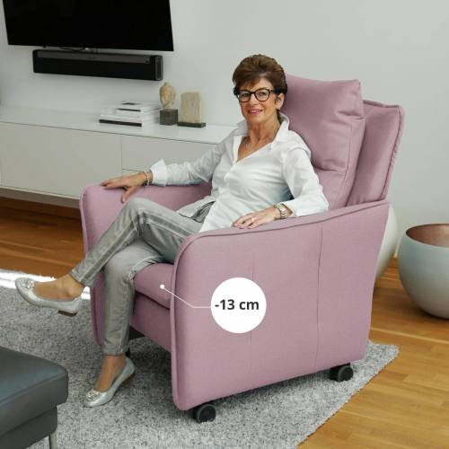 PLACE TO BE. Relaxsessel, Relaxsessel Insideout Wheels small - 13 cm schmaler, Rosa