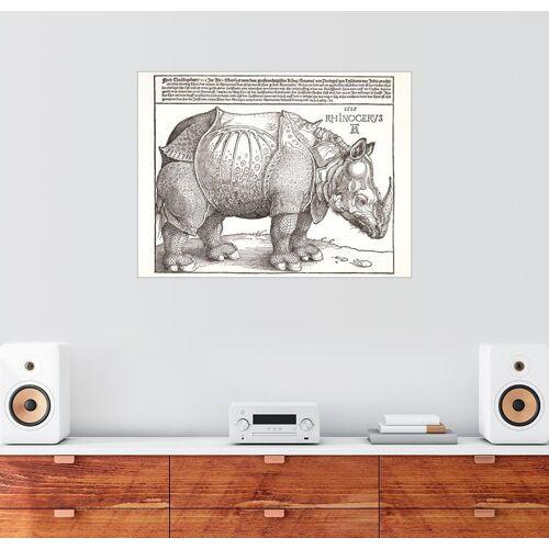 Posterlounge Wandbild, Rhinozeros