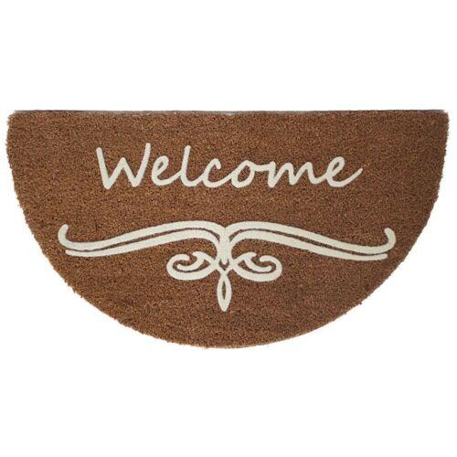 ASTRA Fußmatte »075 x 040 cm HR Welcome SCHRIFT«, , Halbrund, Höhe 20 mm