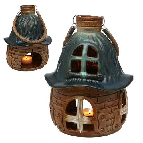 SIGRO Windlicht »Porzellan Windlicht Haus« (1 Stück), Grün