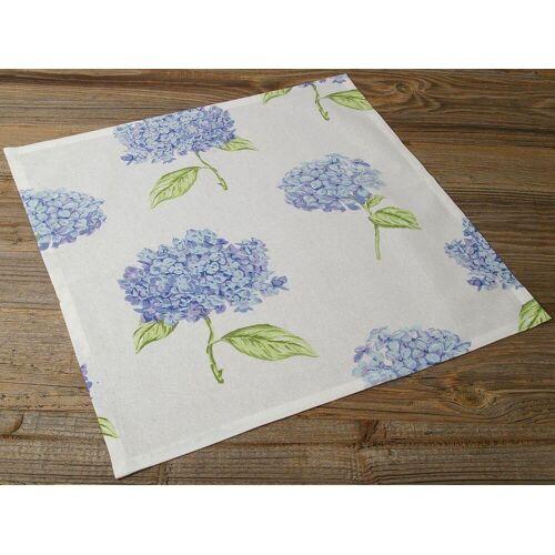 matches21 HOME & HOBBY Stoffserviette, »Textil Stoff Serviette Hortensien Blüten«,
