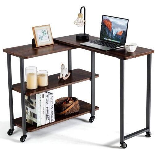 COSTWAY Computertisch »Eckschreibtisch Bürotisch Schreibtisch Beistelltisch«, L-förmig, Beweglich