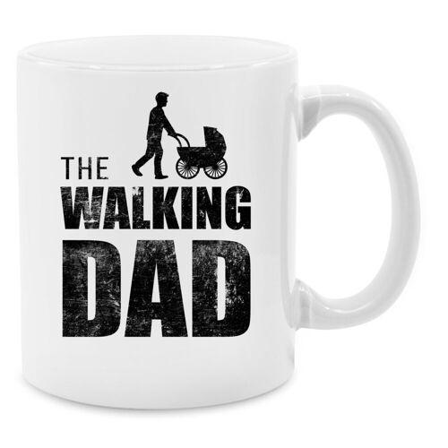 Shirtracer Tasse »The Walking Dad - Tasse zweifarbig - Tassen«, Vatertagsgeschenk, 09 Weiß