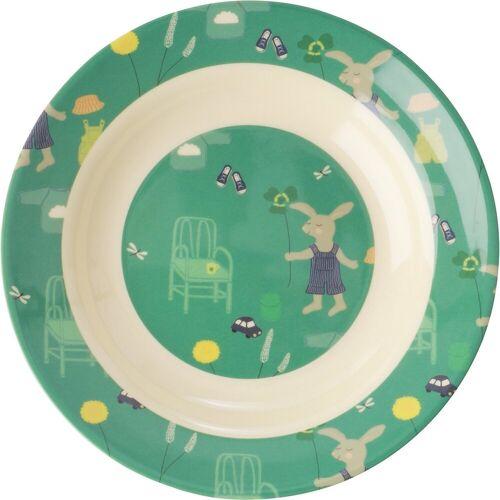 rice Schale »Esslernschale Häschen, Melamine, grün«, grün
