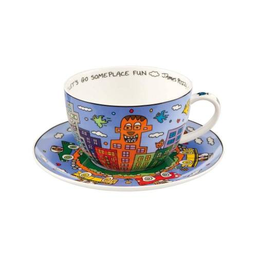 Goebel Tasse »Jumbo Lets Go Out for Fun James Rizzi«