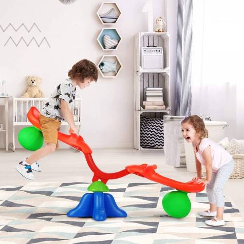 COSTWAY Wippe »Wippe« Wippschaukel 360° drehbar mit Griff zum Festhalten, Gartenwippe für Kinder über 3 Jahren