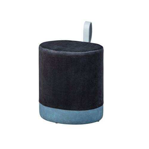 ebuy24 Pouf »Osana Fusshocker, Hocker schwarz und blau.«