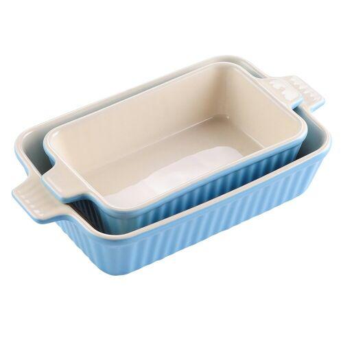MALACASA Backform »Bake.Bake«, (2-tlg), mikrowellengeeignet, Blau