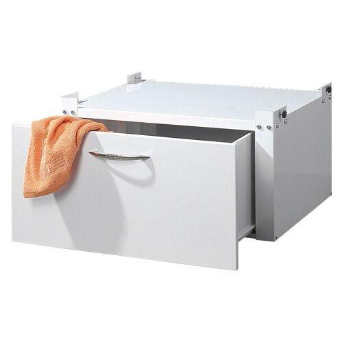 Sz Metall Waschmaschinen-Untergestell, mit Schublade, weiß