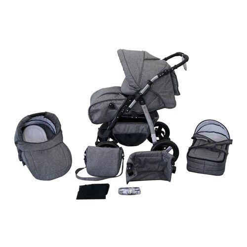 Clamaro Sport-Kinderwagen, Kombikinderwagen Milo, Baby, Buggy, 3in1 Set mit Babyschale 0-13Kg für Isofix
