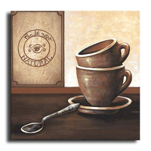 Bilderdepot24 Leinwandbild, Wandbild - Kaffee M2 - Leinwandbild 30x30 cm M05