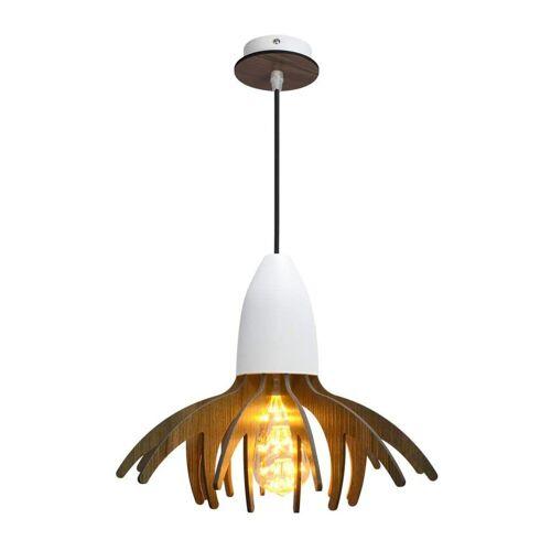 ZMH Pendelleuchte »Retro Hängelampe Holz Kronleuchter Höhenverstellbar E27 für Esszimmer Wohnzimmer (ohne Leuchtmittel)«