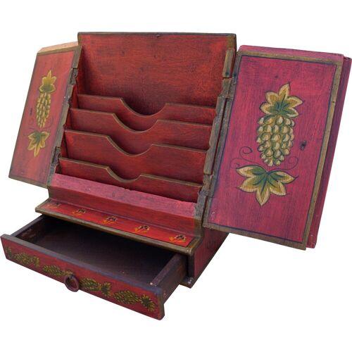 Guru-Shop Aufbewahrungsdose »Brief & Schreibtisch Ordner - rot Modell 2«