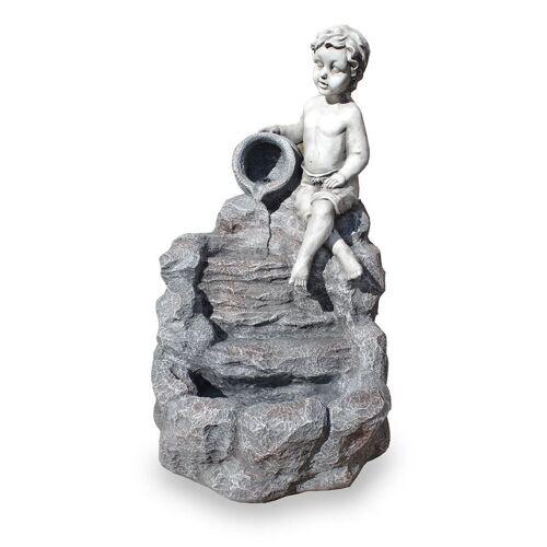 Kiom Dekoobjekt »Gartenbrunnen Figurenbrunnen FoChild Led 74 cm«