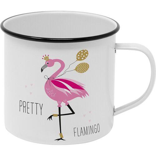 PPD Tasse, pink/weiß