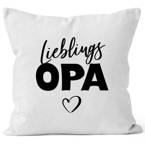 MoonWorks Dekokissen »Kissen-Bezug Lieblings-Opa Kissen-Hülle Deko-Kissen Geschenk ®«, weiß