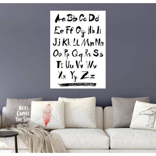 Posterlounge Wandbild, ABC, das Alphabet