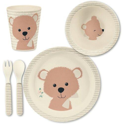 Sterntaler® Kindergeschirr-Set »Bambus Geschirr Set, Baylee blu«, rosa
