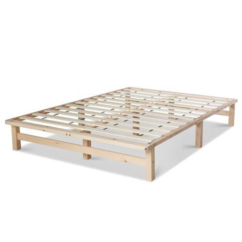 Homestyle4u Holzbett, Palettenbett mit Lattenrost, 90 cm und 140 cm