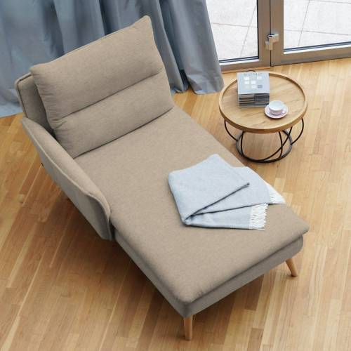 PLACE TO BE. Recamiere, Recamiere Ottomane Chaiselongue Sitzbank Polsterbank Tagesbett Daybed mit Armlehne links, Sand