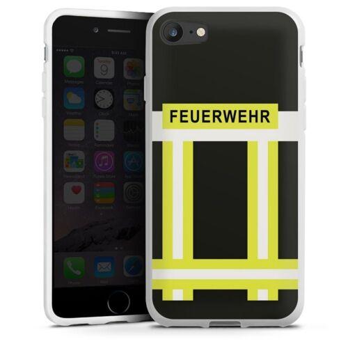 DeinDesign Handyhülle »Feuerwehr« Apple iPhone 7, Hülle Feuerwehr Feuerwehrmann Beruf, weiß
