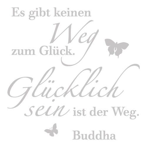 dekodino Wandtattoo »Es gibt keinen Weg zum Glück - Buddha« (1 Stück), 04 - grey