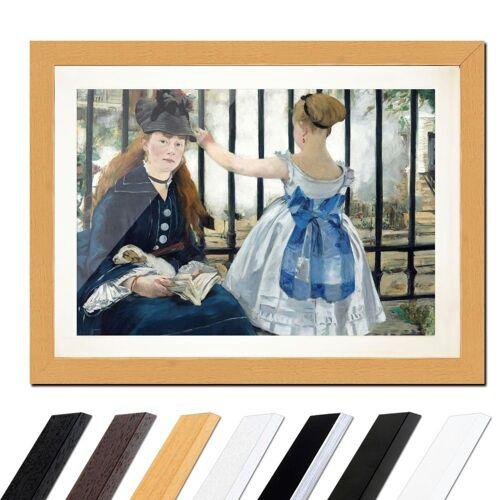 Bilderdepot24 Wandbild, Édouard Manet - Die Eisenbahn, Buche