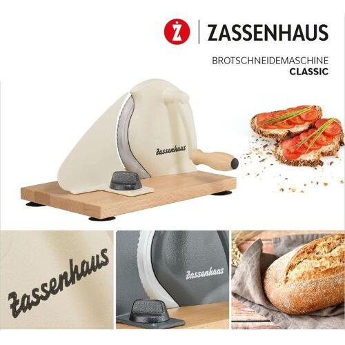 """ZASSENHAUS Allesschneider Allesschneider - Brotschneidemaschine """"Classic"""" creme 072082"""