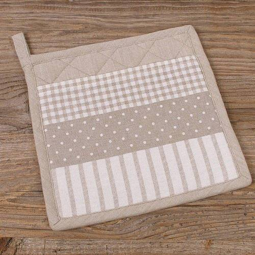 matches21 HOME & HOBBY Topflappen »Topflappen Landhaus Mustermix«, (1-tlg), beige