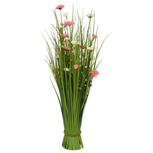 matches21 HOME & HOBBY Kunstblume »Künstlicher Blumenstrauß Kunstblumen rosa / weiß 70 cm«, , Höhe 70 cm, Bunte Blumen & Gräser