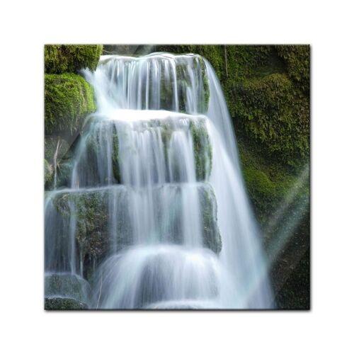 Bilderdepot24 Glasbild, Glasbild - Wasserfall