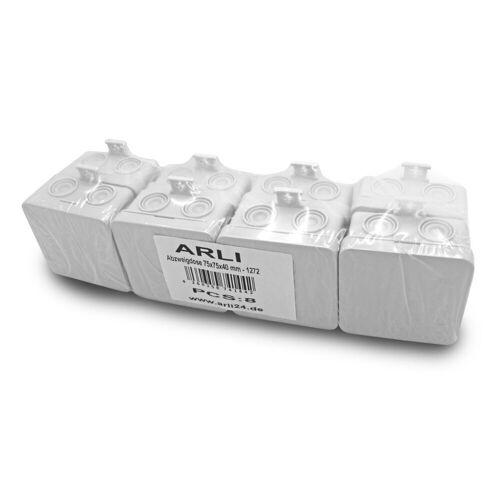 ARLI »Abzweigdose 75 x 75 x 40 mm Industriegehäuse Leergehäuse Verteilerkasten aufputz Dose« Steckdosenverteiler