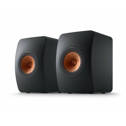 KEF LS50 Meta Regal-Lautsprecher (100 W, Regal-Lautsprecher, Monitor-Lautsprecher, 40-100Watt), Carbon Black