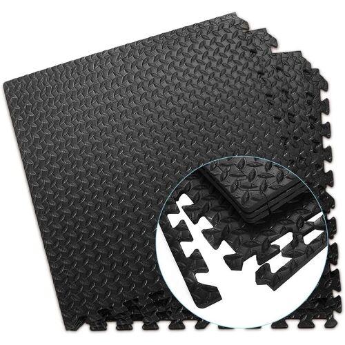 COSTWAY Bodenschutzmatte »Schutzmatte«, 12 Stück, Bodenschutzmatte je 60x60x1,2cm, Puzzlematte aus Eva
