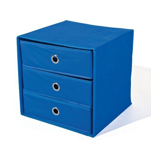 ebuy24 Kommode »Wissy Kommode Stoff Kommode, faltbar, blau.«